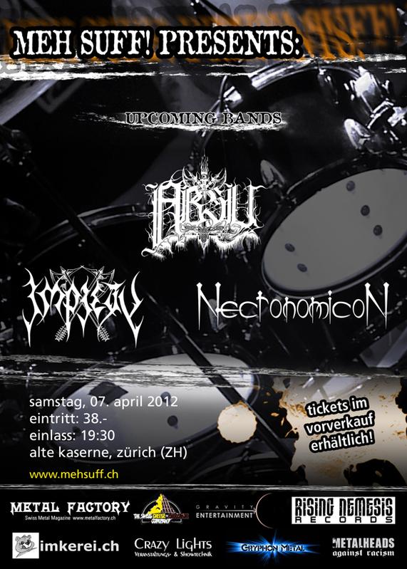 ABSU + IMPIETY + NECRONOMICON (07/04/2012 @ Zurigo)