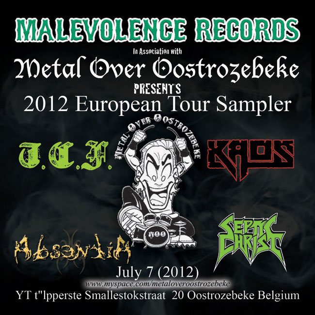 A.A.V.V. - Malevolence Records - Metal Over Oostrozebeke