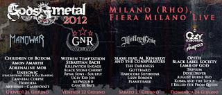 GODS OF METAL 2012 - Quarta Giornata (24/06/2012 @ Rho)
