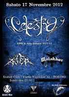 CELESTIA + Ater + Malakhor (17/11/2012 @ United Club, Torino)