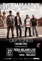 SYSTEM OF A DOWN + Deftones + Lacuna Coil (27/08/2013 @ Fiere Di Rho, Milano)