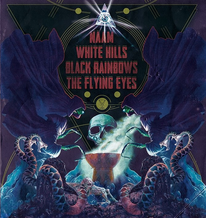 NAAM / WHITE HILLS / BLACK RAINBOWS / THE FLYING EYES - Split