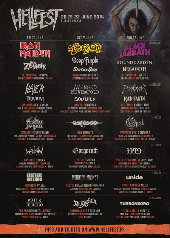 HELLFEST 2014 (20/06-22/06/2014 @ Clisson, France)