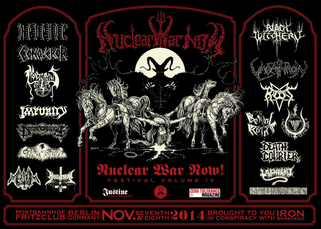 NUCLEAR WAR NOW! FESTIVAL VOLUME IV - Part 2: 8 November 2014