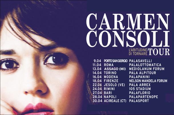 CARMEN CONSOLI - L'Abitudine Di Tornare Tour 2015 (13/04/2015 @ Forum Di Assago, Milano)