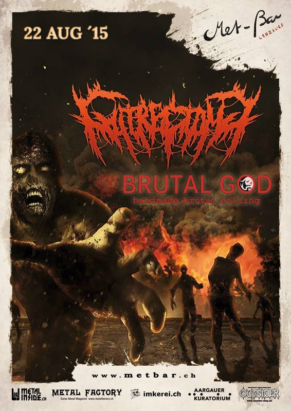GUTRECTOMY + Brutal God (22/08/2015 @ Met-Bar, Lenzburg, Svizzera)