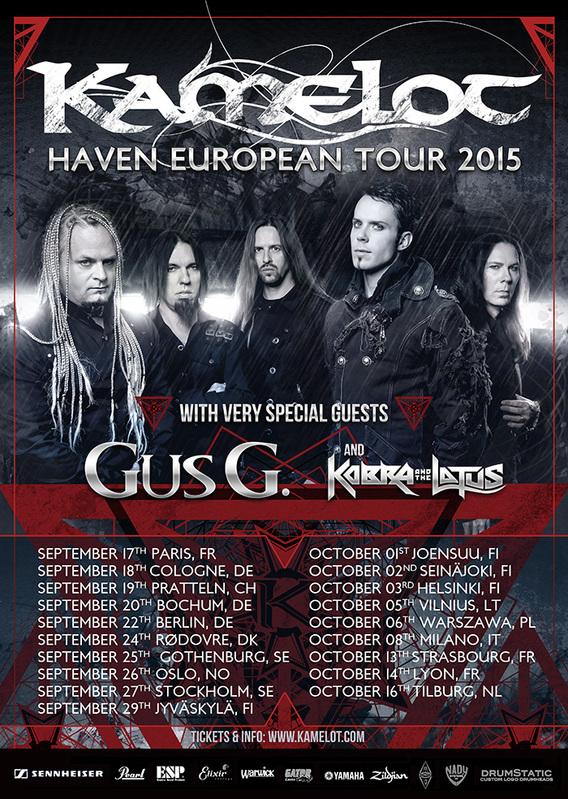 KAMELOT - Haven Tour 2015 (08/10/2015 @ Trezzo Sull'Adda, Milano)