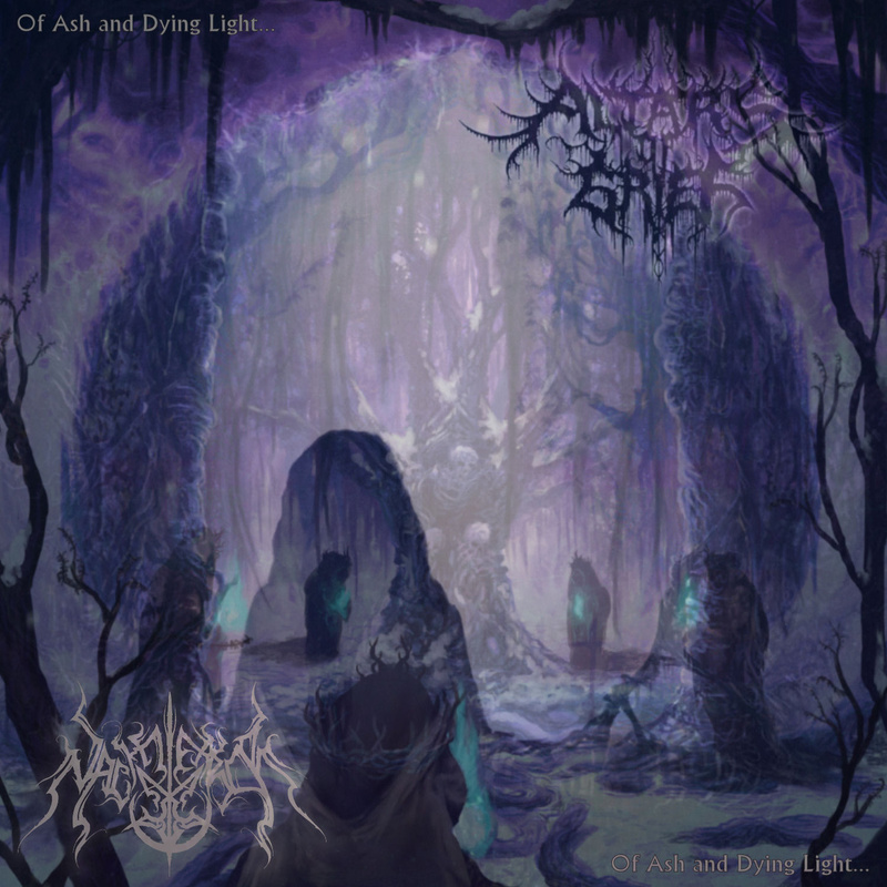 NACHTTERROR / ALTARS OF GRIEF - Of Ash And Dying Light