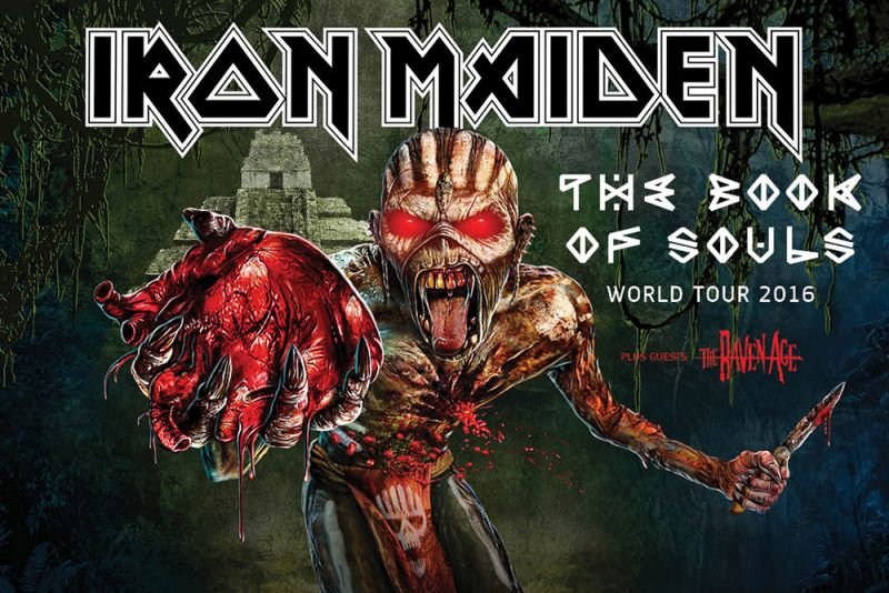 IRON MAIDEN - The Book Of Souls World Tour (22/07/2016 @ Assago Forum, Milano)
