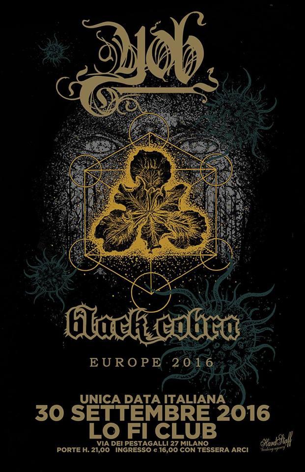 YOB + Black Cobra (30/09/2016 @ Lo-Fi, Milano)