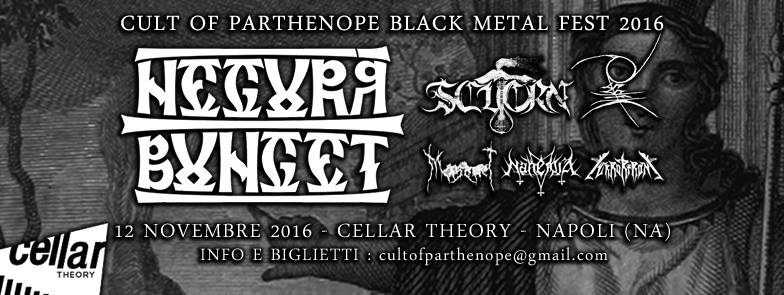 CULT OF PARTHENOPE BLACK METAL FEST 2016 (12/11/2016 @ Cellar Theory, Napoli)