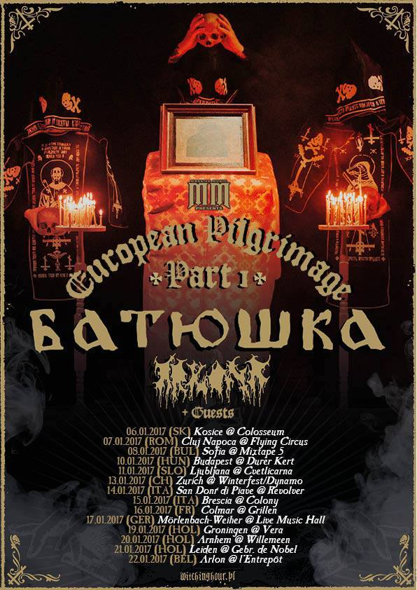 BATUSHKA - European Pilgrimage Tour (15/01/2017 @ Colony Club, Brescia)