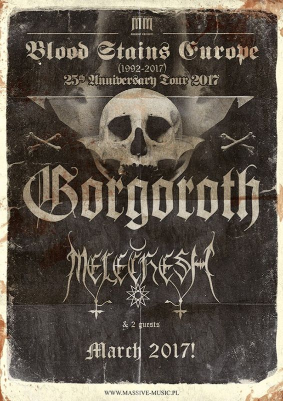 GORGOROTH + Melechesh - Blood Stains Europe (15/03/2017 @ Rock Centrale, Erba)