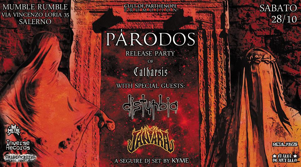 "PÁRODOS - ""Catharsis"" Release Party (28/10/2017 @ Mumble Rumble, Salerno)"