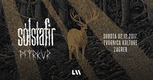 SÓLSTAFIR + Myrkur + Árstíðir (02/12/2017 @ Tvornica Kulture, Zagreb)