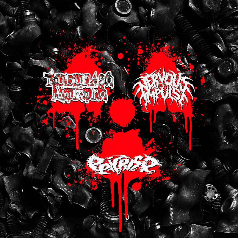 RUBUFASO MUKUFO /  NERVOUS IMPULSE / EPICRISE - Atomic Grind! 3 Way CD
