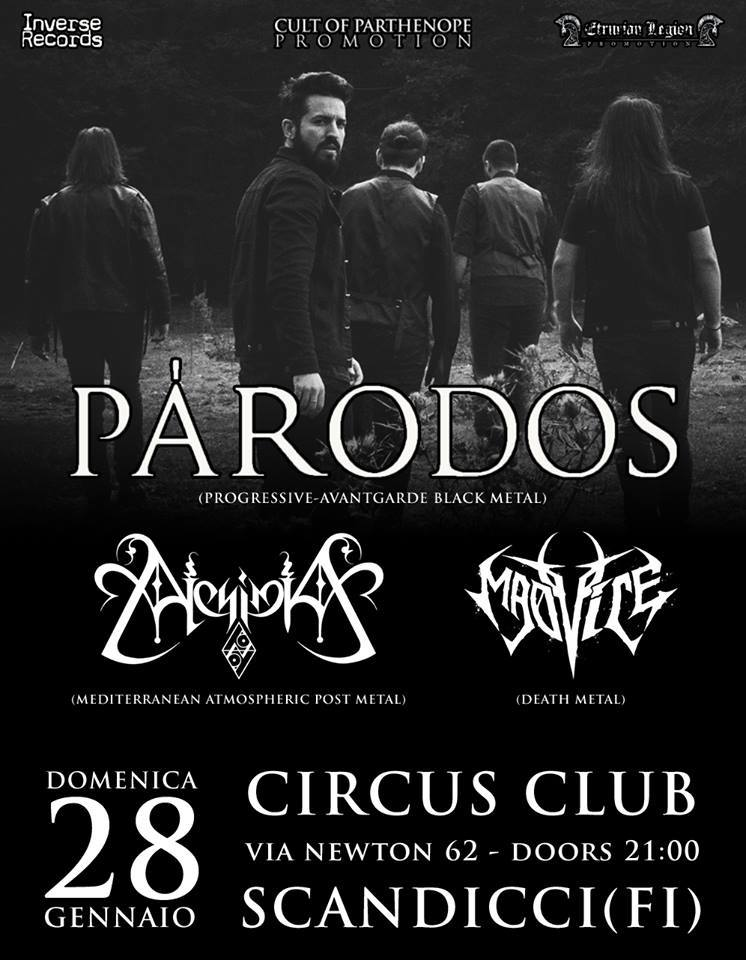 PÁRODOS + Alchimia + Madvice (28/01/2018 @ Circus Club, Scandicci)