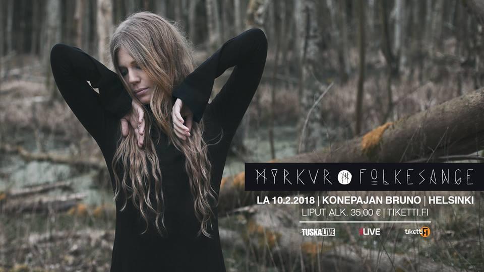 MYRKUR - Folkesange (10/02/2018 @ Konepajan Bruno, Helsinki)