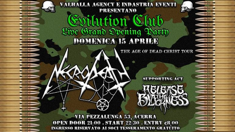 NECRODEATH + Release The Blackness (15/04/2018 @ Evilution Club, Acerra)