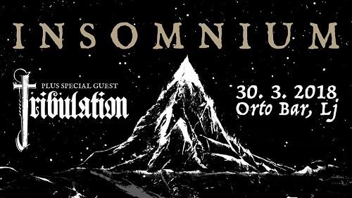 INSOMNIUM + Tribulation (30/03/2018 @ Orto Bar, Ljubljana)