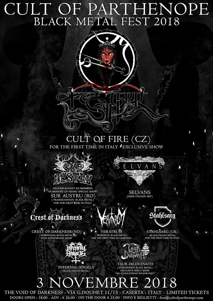 CULT OF PARTHENOPE BLACK METAL FEST 2018 (03/11/2018 @ I'm Club, Caserta)