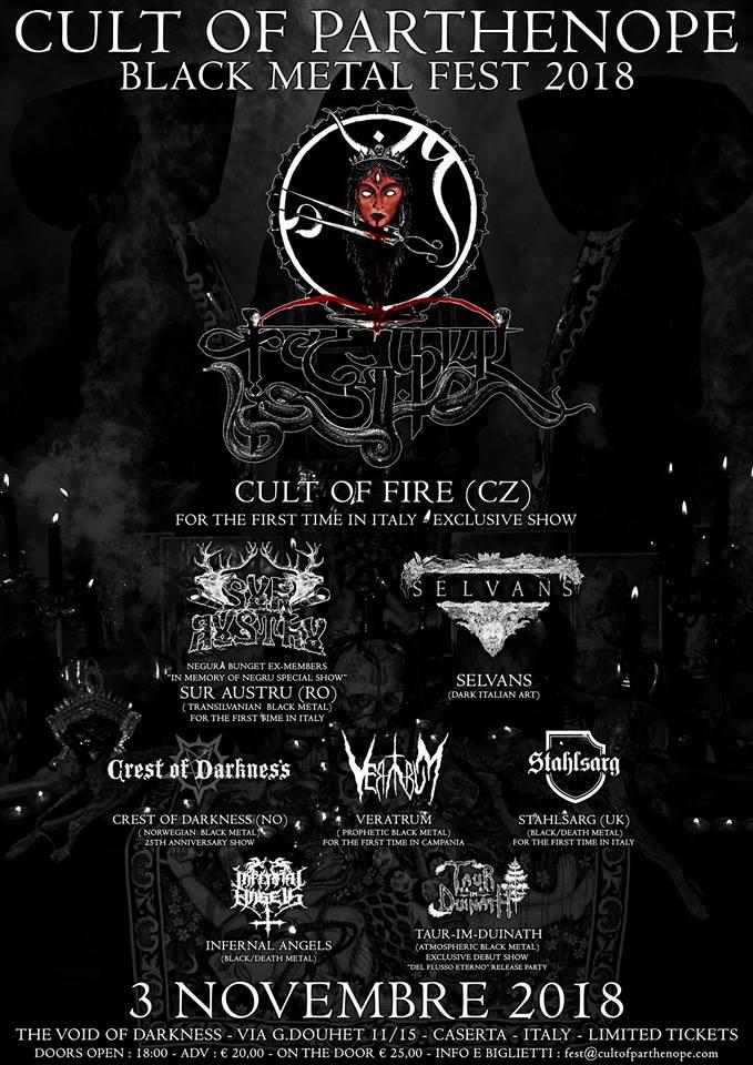 CULT OF PARTHENOPE BLACK METAL FEST 2018 (03/11/2018 @ I'm Club, Caserta)