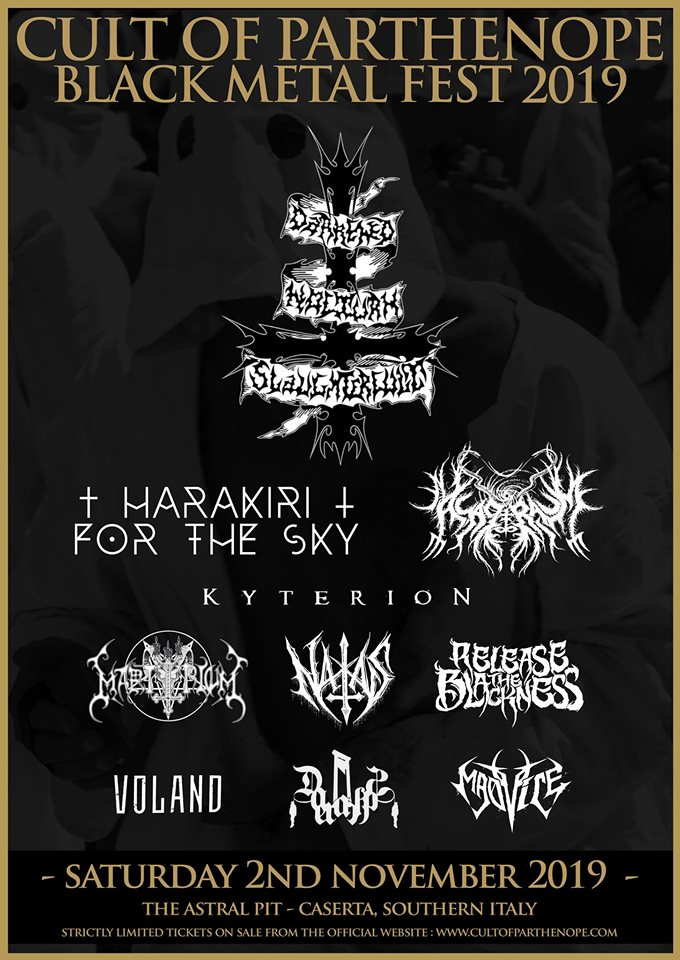 CULT OF PARTHENOPE BLACK METAL FEST 2019 (02/11/2019 @ I'm Club, Caserta)